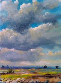 Wolken, Himmel, Marsch, Weite