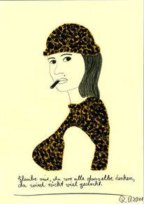 Frau mit zigarre, Philosophie, Malerei,