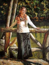 Altweibersommer, Sonne, Portrait, Herbst