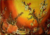 Blumen, Schüssel, Pflanzen, Vase