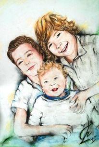 Bruder, Familie, Lachen, Kinder
