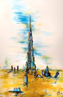 Stadt, Gold, Dubai, Reichtum