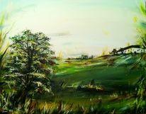 Landschaft, Gras, Bauernhof, Baum