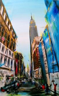 Newyork, Stadt, Manhattan, Empire state building