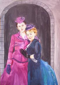 Damenportrait, Kostümfilm, Frau, Portrait