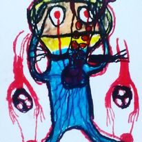 Herz, Augen, Hände, Malerei