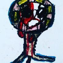 Herz, Mund, Hände, Malerei