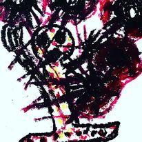 Hände, Augen, Mund, Malerei