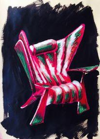 Berlin, Neukölln, Sessel, Malerei