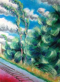 Neukölln, Baum, Landschaft, Malerei