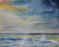 Landschaft, Meer, Welle, Himmel