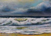 Wasser, Malerei, Landschaftsmalerei, Himmel