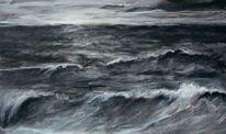 Meer, Wolken, Wasser, Brandung