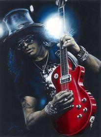 Gitarist, Rockmusik, Musiker, Aquarell
