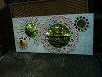 Mosaik, Vintage, Wandspiegel, Shabby chic