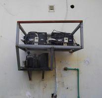 Maschine, Tür, Rost, Schau