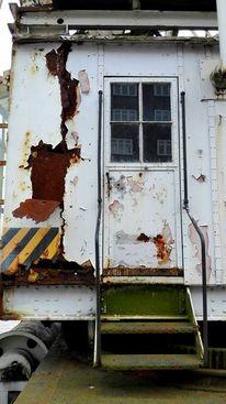 Tür, Wohnwagen, Abblättern, Rost