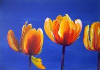 Tulpen, Blumen, Malerei, Acrylmalerei