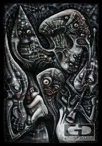 Giger, Surreal, Digitale malerei, Böse
