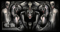Prototype, Giger, Hexe, Digital painting