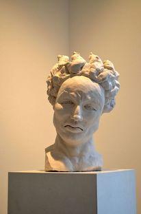 Kopf, Heidelberg, Ton, Mann skulptur