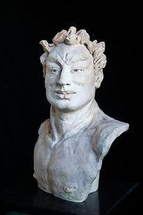 Mann skulptur, Keramik, Torso, Figurativ
