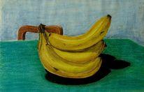 Früchte, Pastellmalerei, Malerei, Banane