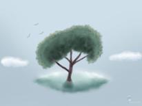 Wolken, Baum, Ausruhen, Digitale kunst