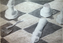 Revolution, Schach, Zeichnung, Zeichnungen