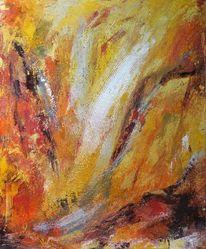 Acrylmalerei, Erdtöne, Expressionismus, Farbstruktur gespachtelt