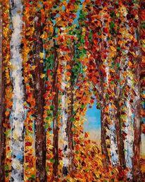 Struktur, Herbst, Baum, Pastos