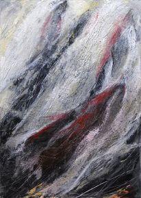 Kratzen, Pastellmalerei, Intuition, Strukturierter untergrund