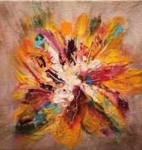 Blüte, Pinsel, Hoffnung, Acrylmalerei