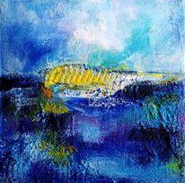 Wasser, Kontrast, Feld, Deep blue