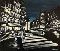 Frankreich, Malerei, Café, Lamarck