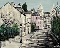 Paris, Frankreich, Malerei, Acrylmalerei