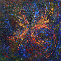 Kokon, Abstrakt, Expressionismus, Impulsiv