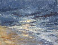 Unwetter, Abend, Meer, Licht