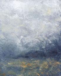 Wolken, Waldrand, Herbstwald, Nebel