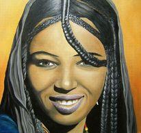 Frau, Schönheit, Malerei, Menschen