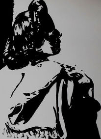 Malerei, Acrylmalerei, Portrait, Gewand