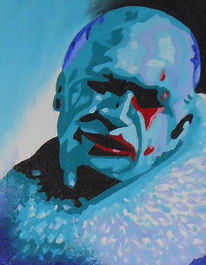 Clown, Acrylmalerei, Malerei, Portrait