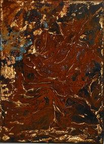 Kupfer, Bewegung, Patina, Rost