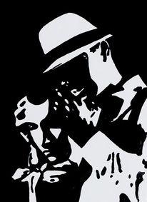 Acrylmalerei, Maske, Malerei, Mann