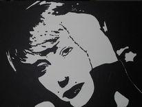 Portrait, Helen mirren, Malerei, Acrylmalerei