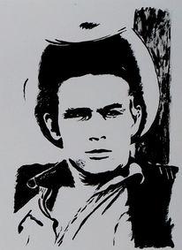 James dean, Acrylmalerei, Malerei