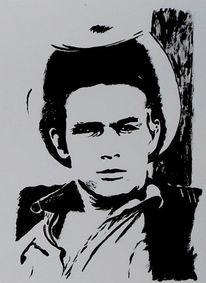 Acrylmalerei, Portrait, Malerei, James dean