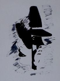 Mann, Zeichnung, Tuschezeichnung, Frau
