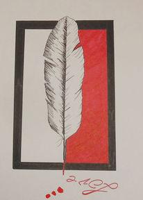 Liebe, Tuschmalerei, Feder, Zeichnung