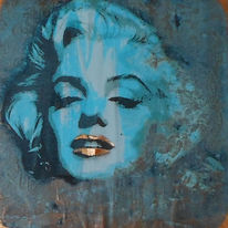 Marilyn, Kupfer, Patina, Portrait